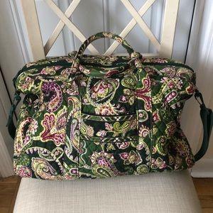 Vera Bradley Chelsea Green Weekender Bag